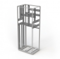 Welded-frame construction – maximum use of interior space thanks to its narrow profile shape